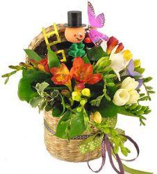 Lucky freesias basket